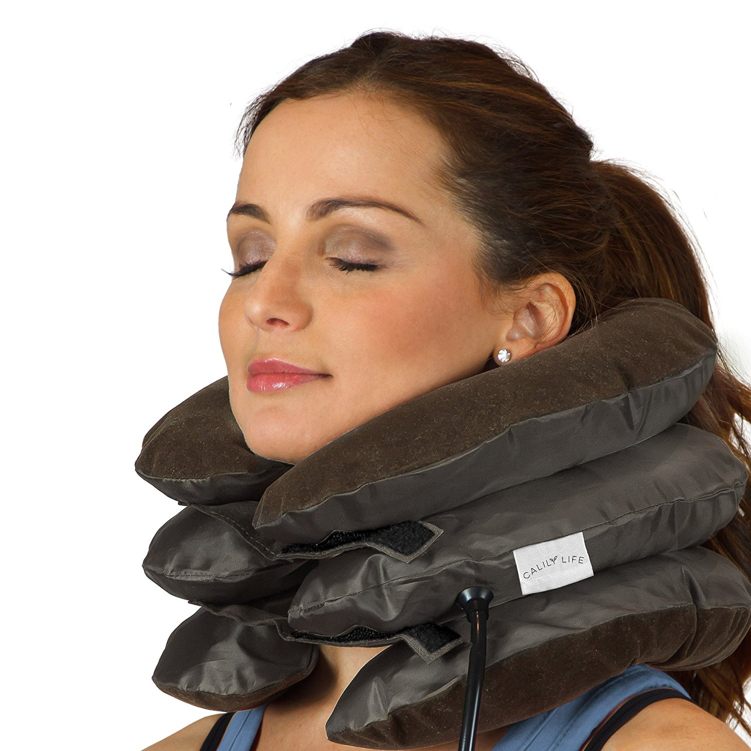 Spine Neck Traction Device Inflatable Neck Brace Neck Collar Support For Pain